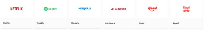 Logo de lojas e serviços parceiros do Clube Esfera