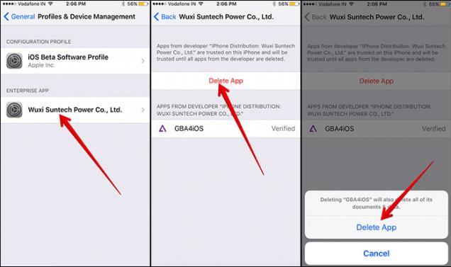 Delete GBA4iOS App