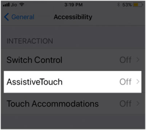 AssistiveTouch on iphone