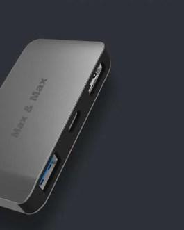 MAX&MAX 3-IN-1 USB C HUB AN STYLISH SPEEDIEST ACCESSORY