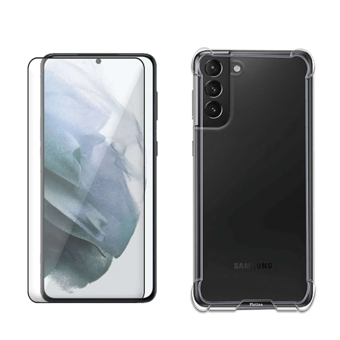 Samsung S21Plus Bundle Tempered Glass with Cover