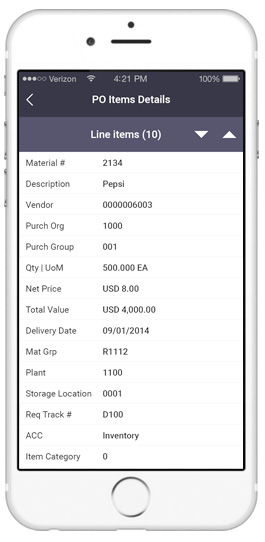 sap purchase order requisition app