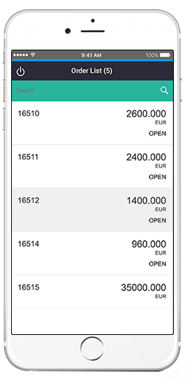 sap sales order list app