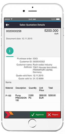 sap sales quotation details app