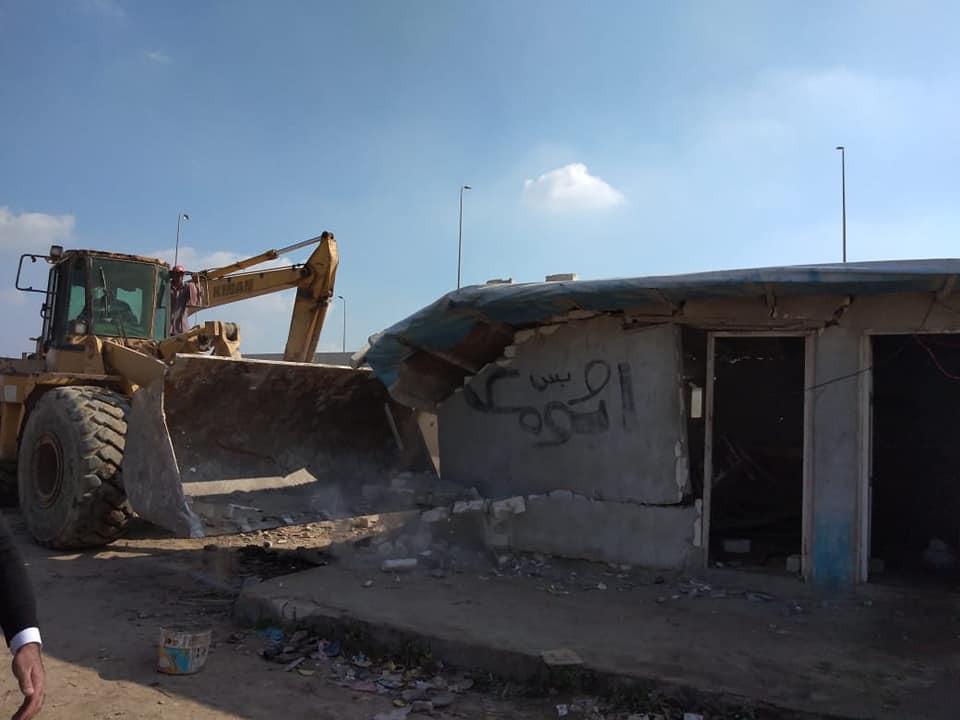 إزالة التعديات على أراضي الدولة بالإسكندرية