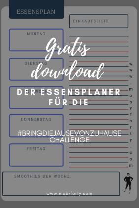 Gratis Essens-/Jausenplaner Download zur 'bringdiejausevonzuhause Challenge