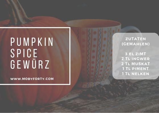 Rezeptkarte für die Pumpkin Spice Everything Gewürzmischung