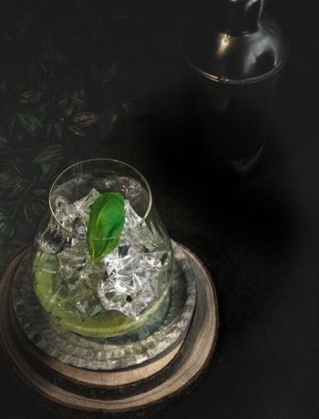 Basilikum im Gin Basil Smash