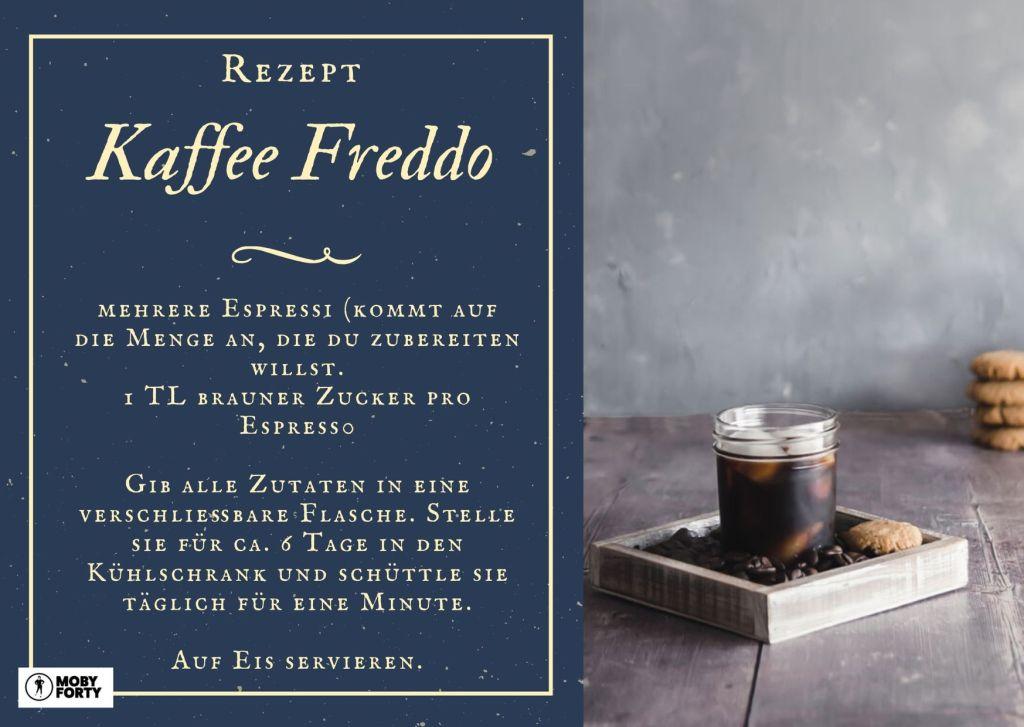 Rezeptkarte Kaffee Freddo