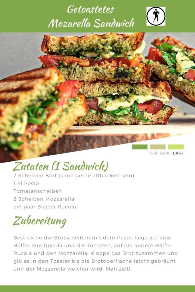 Familienküche Rezept Mozzarella Sandwich