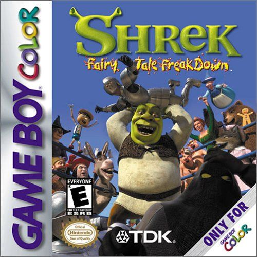 Shrek: Fairy Tale Freakdown Game Boy Color Front Cover