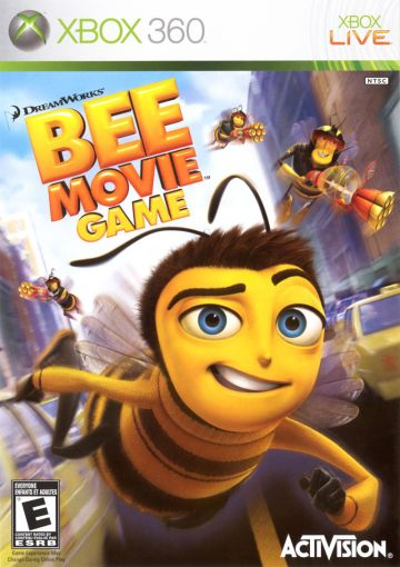 Bee Movie Game  2007  Xbox 360 box cover art   MobyGames Bee Movie Game Xbox 360 Front Cover