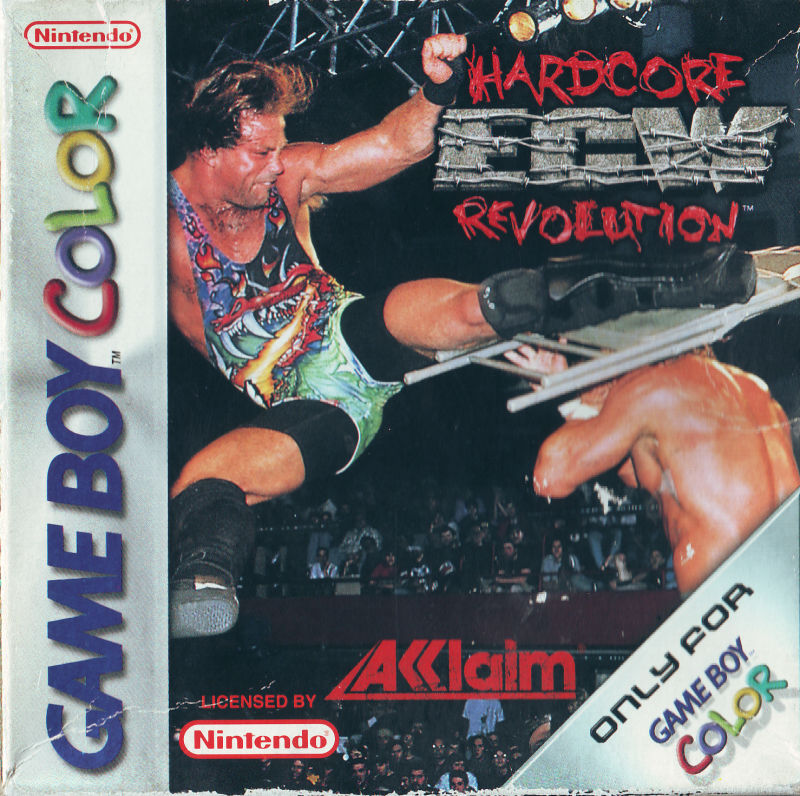 ECW Hardcore Revolution Game Boy Color Front Cover