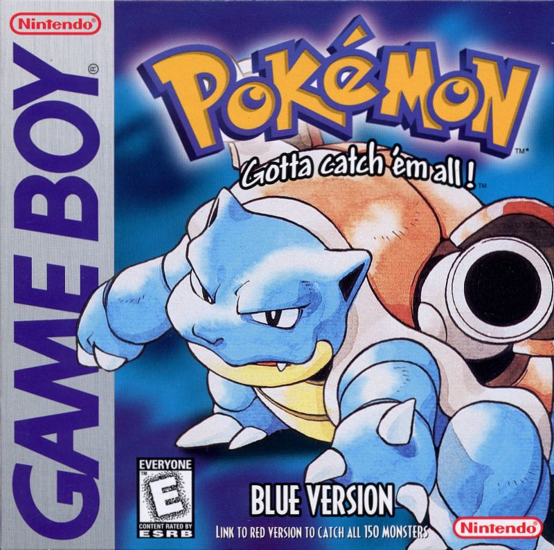 Image result for pokemon blue box art