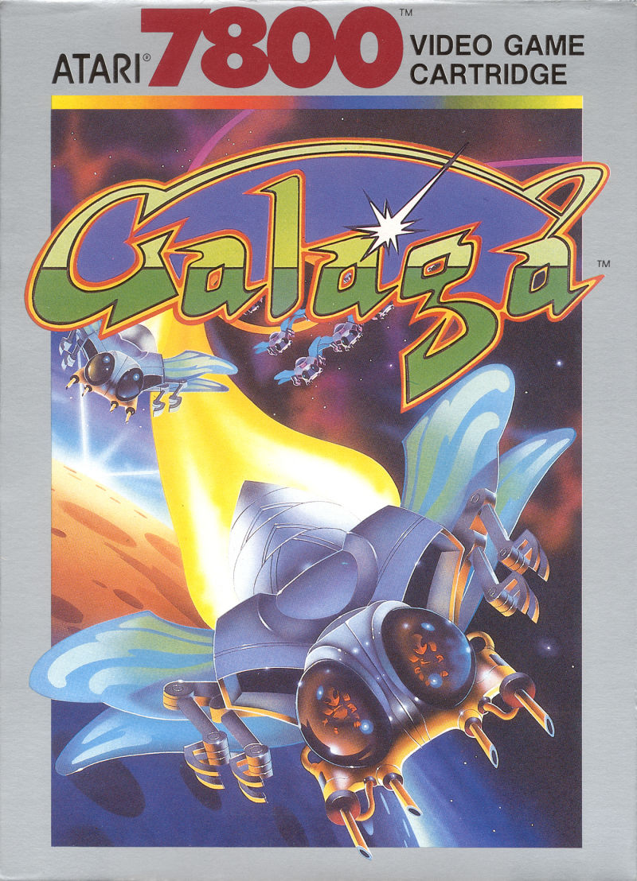 Galaga For Atari 7800 1987 MobyGames