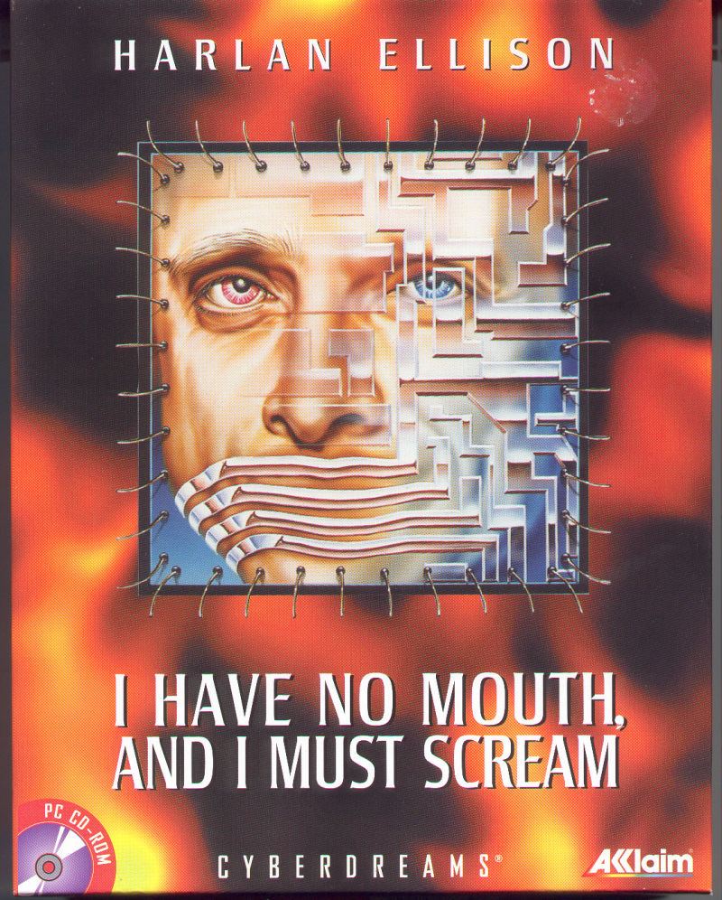 Harlan Ellison: I Have No Mouth, and I Must Scream DOS Front Cover