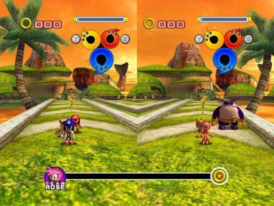 Sonic Heroes Windows Seaside Hill in 2P Battle Mode