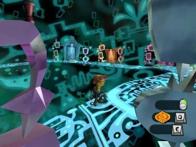 Psychonauts Windows Raz visits the Collective Unconscious.
