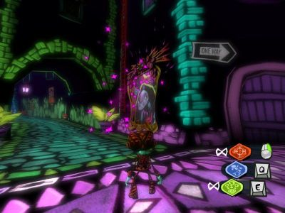 Psychonauts Windows The streets of Black Velvetopia, the mental world of Edgar the artist.