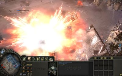 Company of Heroes Windows A devastating Axis V1 Bomb Attack! -- Ouch!