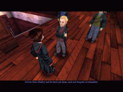 Harry Potter and the Sorcerer's Stone Windows Draco Malfoy and his gang - better avoid him