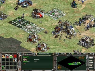 Star Wars: Galactic Battlegrounds Windows Our base (German screen text, playing as Wookies)