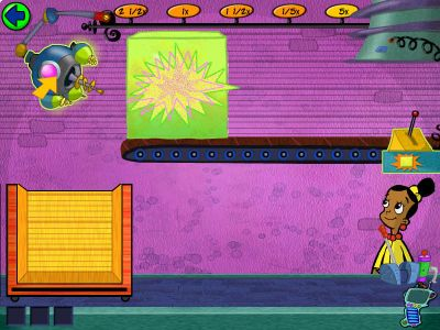 Cyberchase: Castleblanca Quest Windows Inside the goop factory