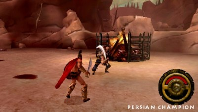 300: March to Glory PSP Boss combat