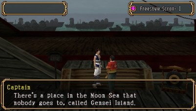 Kingdom of Paradise PSP A dialog with the ship Capitan