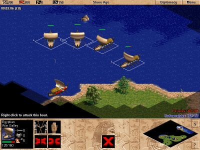 Age of Empires Windows Four galleys against one? It's unfair...
