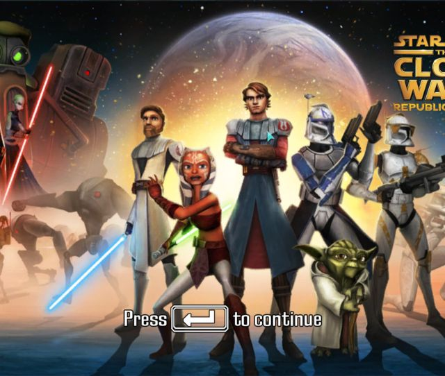 Star Wars The Clone Wars Republic Heroes Windows Title Screen