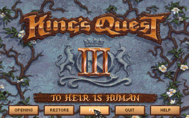 King's Quest III Redux: To Heir is Human Windows Main menu