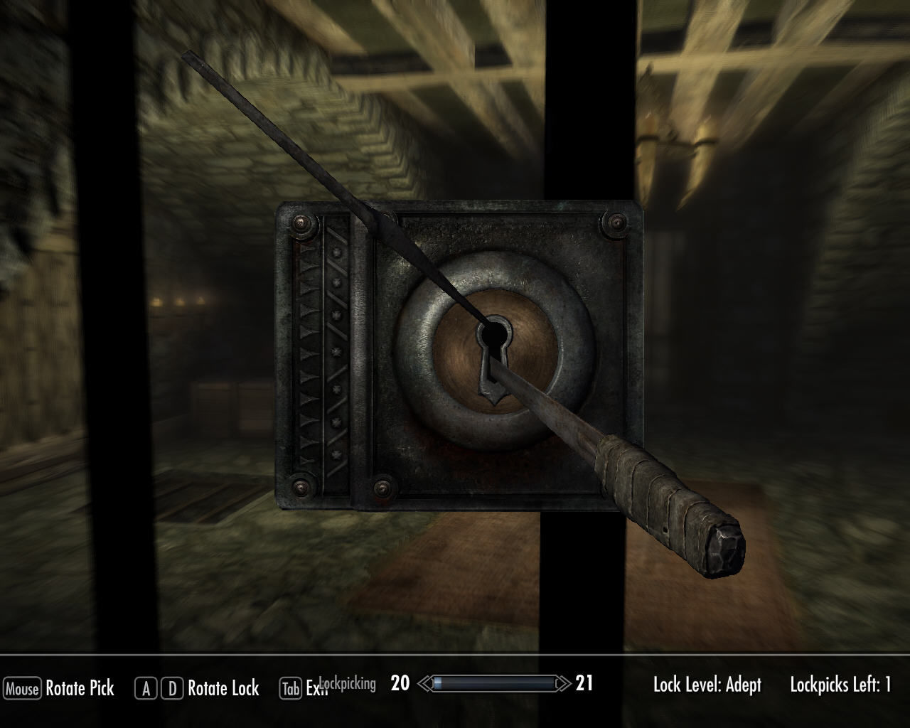 Image result for skyrim lockpicking