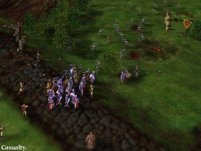 Myth: The Fallen Lords Windows Ambushed by a band of Myrmidons! My troops didn't last long...