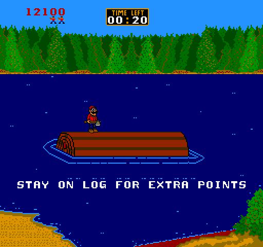Timber Arcade Bonus Round.