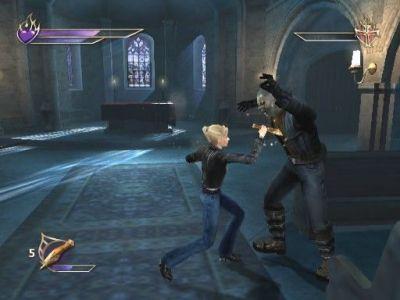Buffy the Vampire Slayer: Chaos Bleeds PlayStation 2 Buffy slaying a vampire.