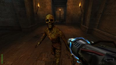 Return to Castle Wolfenstein Windows Good ol' zombie is happy to see you.