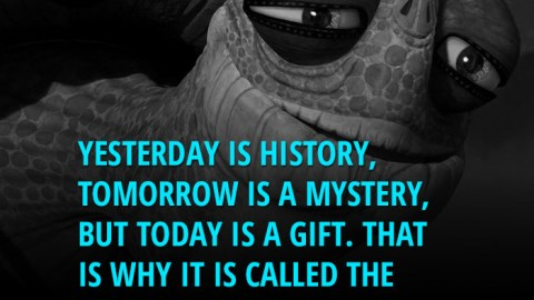 Yesterday Is History, Tomorrow Is a Mystery, but Today Is a Gift. That Is Why It Is Called the Present. - Master Oogway