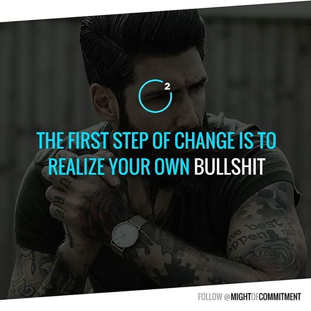 Realize your own bullshit. Tag your entrepreneurial friends here.--- Follow @mightofcommitment#motivation #inspiration #quotes