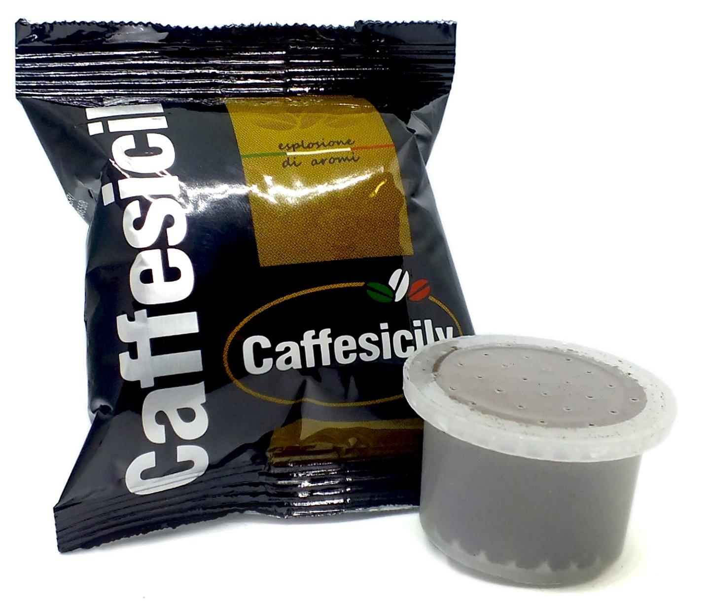 100 Capsule Caffè Caffesicily miscela nera compatibili Uno System