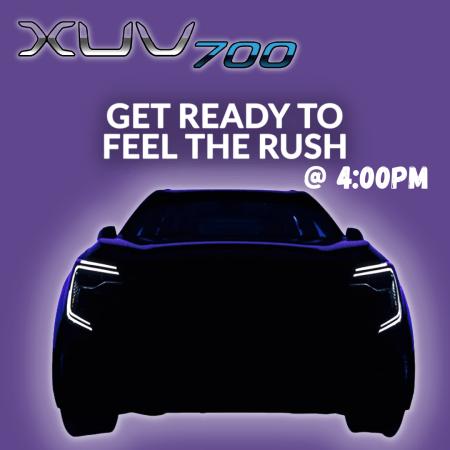 Mahindra XUV700 Grand Debut at 4:00PM 14th August 2021