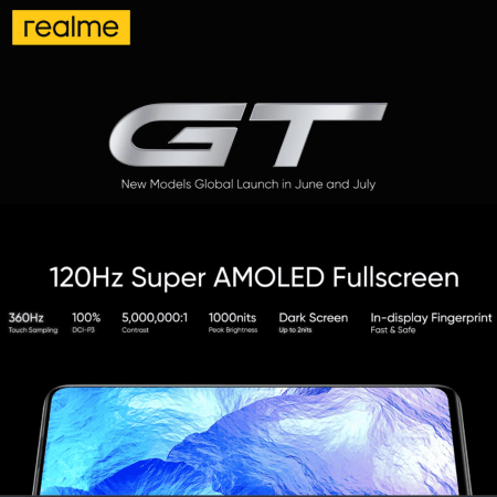 Realme GT comes with a 120Hz Super AMOLED Display