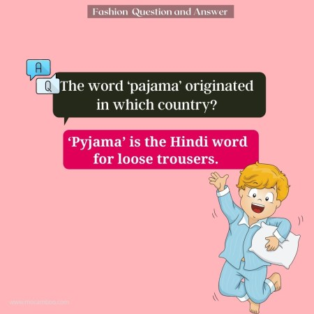 The word 'pajama' originated in which country?