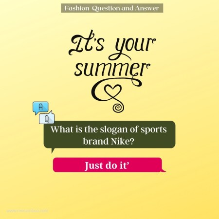 What is the slogan of sports brand Nike?