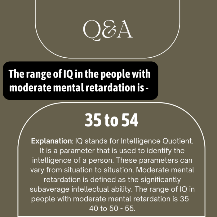 The range of IQ in the people with moderate mental retardation is –