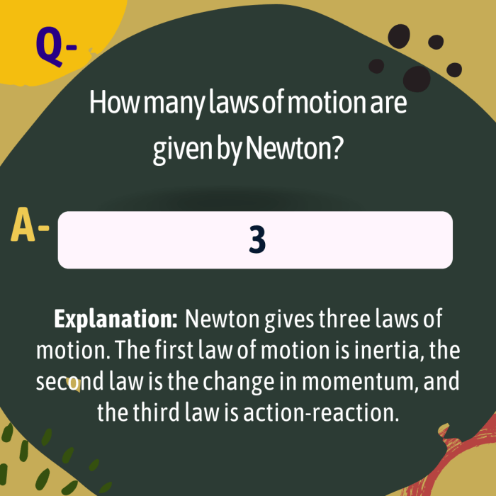 How many laws of motion are given by Newton?