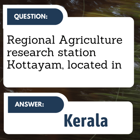 Regional Agriculture research station Kottayam, located in