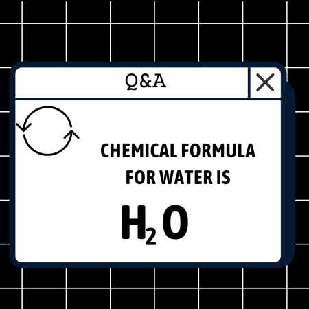 Chemical formula for water is