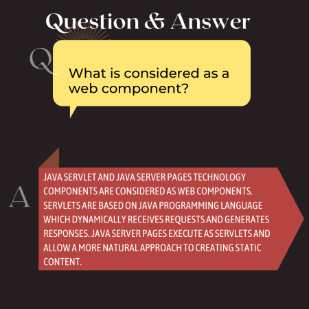 What is considered as a web component?