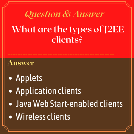 What are the types of J2EE clients?
